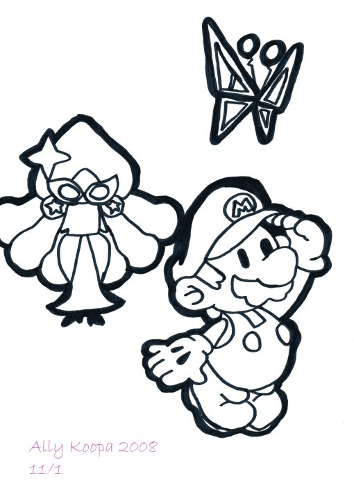 paper mario coloring pages - photo#26